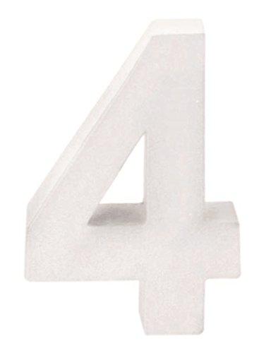 GLOREX Cartón Número 4, FSC Mix, Blanco, 10 x 7 x 3,5 cm