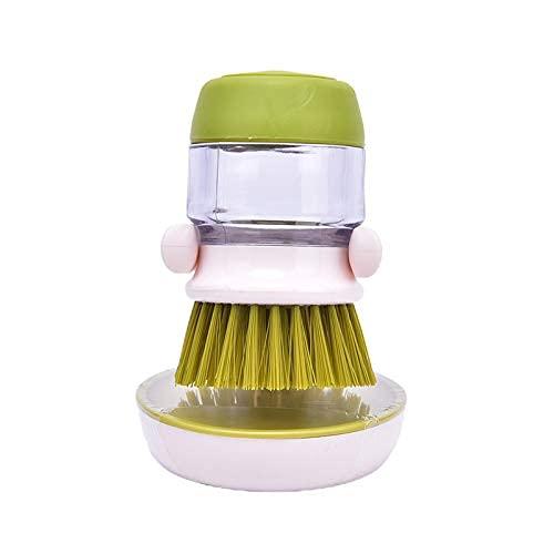 Reinigungsbürste 1Pc Reinigungsbürsten Geschirrspülwerkzeug Seifenspender Nachfüllbare Pfannen Tassen Brot Schüssel Scrubber Küchenartikel Zubehör Gadgets