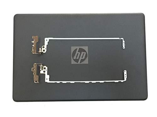 Carcasa para ordenador portátil HP Pavilion 15-BS 15-BW 250 G6 255 G6 258 G6 256 G6 TPN-C129 TPN-C130 TPN-C130 de repuesto con tapa trasera y bisagras de R&L, color rojo, plateado y negro negro