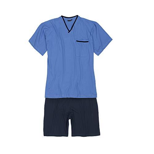 ADAMO kurzer Pyjama hellblau in großen Größen ab 2XL bis 10XL, Größe:6XL