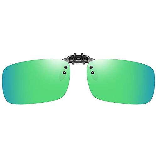 Hancoc Sonnenbrille Klassische Retro-Klappbrille Aus Metall, Gold/Blau/Grün/Silber for Herren Und Damen Mit Polarisierter Sonnenbrille (Color : Green)