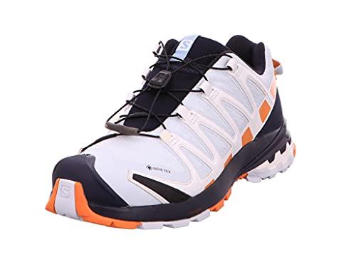 Salomon XA Pro 3D V8 Gore-Tex (impermeable) Mujer Zapatos de trail running, Azul (Plein Air/Marmalade/Night Sky), 43 1/3 EU