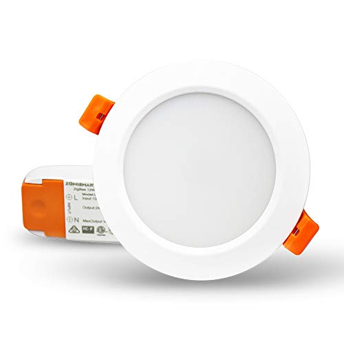 zemismart ZigBee 3.0 Smart RGBW 3,5 Zoll Einbaustrahler Retrofit 12 W 10 cm LED Dimmbar Deckenlampe Mehrfarbig kompatibel mit Amazon Alexa Echo Plus SmartThings Home Automation