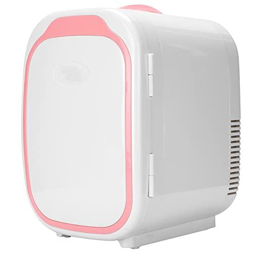 Mini nevera de 6 litros, enfriador calefactor para dormitorio 220 V-240 V 28,5 x 25 x 19,4 cm, para automóviles, hogares, oficinas y dormitorios(rosado)