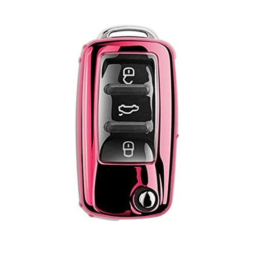 Funda Completa de TPU Suave para Llave de Coche, para VW Volkswagen Polo Golf Passat Beetle Caddy T5 Up EOS Tiguan, para Skoda A5, para Seat Leon Altea