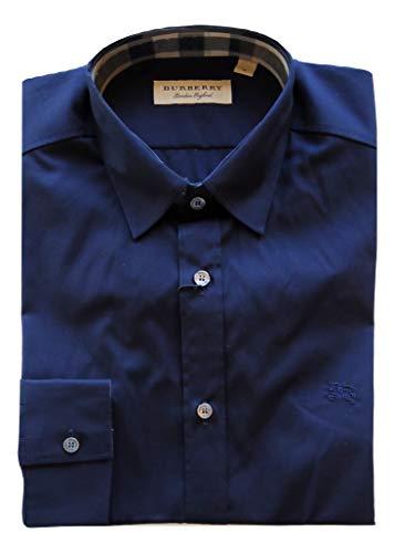 BURBERRY Herren Freizeit-Hemd Grau grau, Blau Small