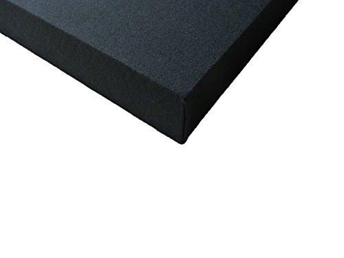 Akoestisch paneel: ROOMSONIC met stof bedekte geluidsabsorberende panelen voor wand en plafond 1 x 100mm thickness Zwart