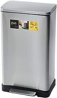 JAVA Lase ペダルビン ステンレス ゴミ箱 消臭剤ポケット付 45L メタリックシルバー