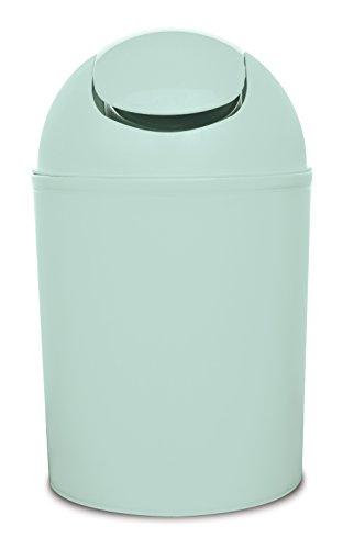 Wohnideenshop Schwingdeckeleimer 5 Liter mint 30cm hoch ø19cm Kunststoff und in anderen Farben zur Auswahl