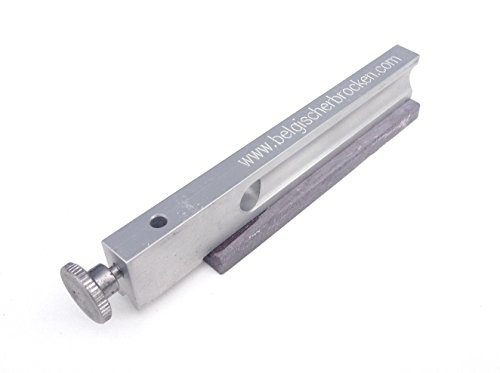 Belgischer Brocken Dorolist-Schleifhilfe I Blauer Körnung 6000 auf Aluminiumträger I Format 100 x 17 x 6 mm I Messer-Schärfer kompatibel mit Lansky-EZE Lap Schleifsystem