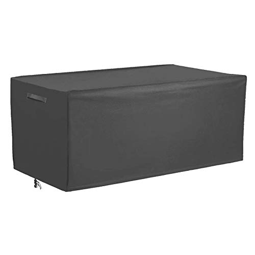 Patio Deck Box Cover Outdoor Cushions Box Cover, Waterproof Outdoor Storage Box Protector, Rectangular Coffee Table Cover 51.5'Lx25.5'Dx25.5'H Gray