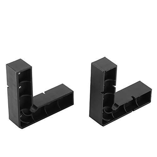 WYANG rechthoekige hoekklem 2 stuks ABS 90 graden L vorm liniaal klemmen zwart kunststof fotolijst handgereedschap voor houtbewerking make-up