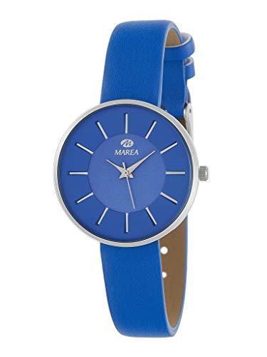 Reloj Marea Analógico Mujer B41244/2 Extraplano y con Correa de Piel Azul...