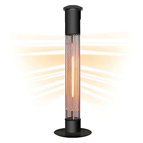 Riscaldatore elettrico del patio, riscaldatore da esterno, riscaldatore a infrarossi indipendente da 1500W, protezione da tip-over, riscaldamento silenzioso, riscaldamento per patio esterno IP34,220v