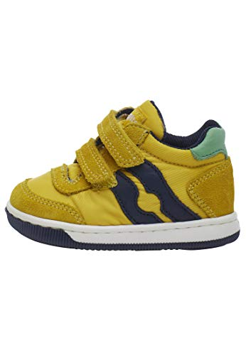 Falcotto Vega VL-Sneaker aus Leder und Nylon-Gelb gelb 18