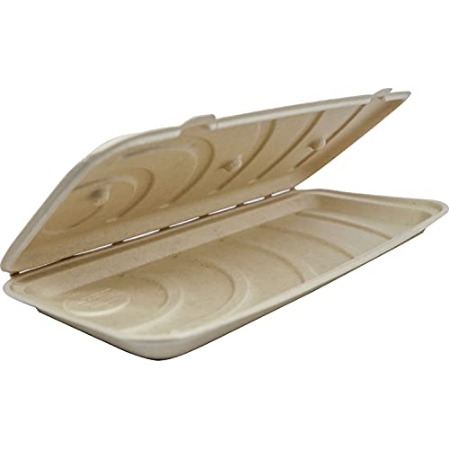 World Centric PB-SC-U13 100% Compostable Unbleached Plant Fiber Flat Bread Pizza Box Take Out Containers, 13.5' (Pack of 200)