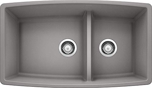 BLANCO, Metallic Gray 441309 PERFORMA SILGRANIT 60/40 Double Bowl...