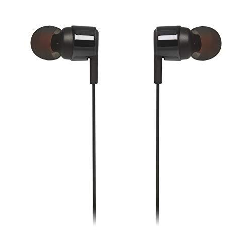 JBL TUNE 210 – Fone de ouvido intra-auricular com controle remoto de um botão/microfone – Preto