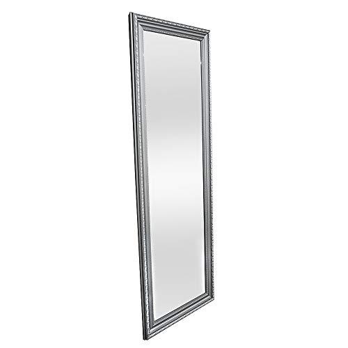 LEBENSwohnART Spiegel LULU Silber ca. 100x50cm Wandspiegel Badspiegel Schminkspiegel Barock