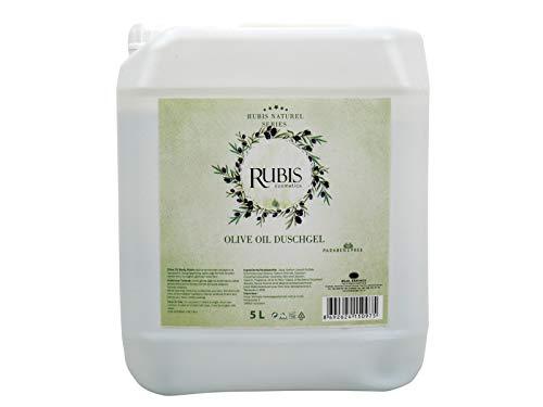 Rubis Cosmetics, 5 Liter Olivenöl Duschgel Nachfüllpack, im Kanister, auch geeignet für Hamam Schaummassage