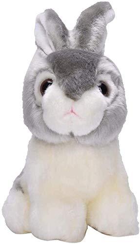 RENFEIYUAN Juguete de Peluche para niños bebé de Alta simulación Juguete Animal Suave para niños Decoración de Cama Conejo de Peluche (Color: Gris)-Gris