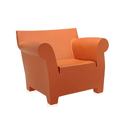 Kartell Bubble Club Armchair by Philippe Starck, Pack of 1, Matte Terracotta