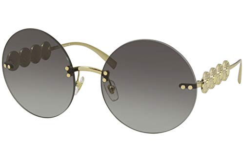 Versace 0VE2214 Gafas, GOLD/LIGHT GREY SHADED, 59/18/135 Eyewear