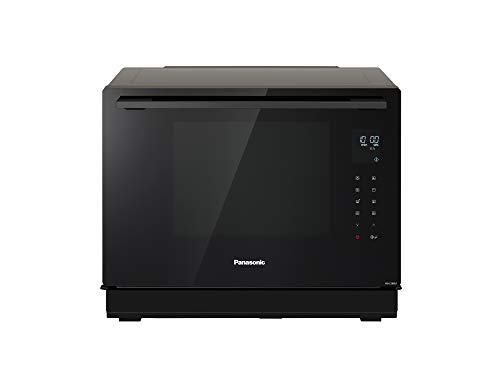 Panasonic NN-CS88LBEPG 4 in 1 Dampf Kombiofen mit Dampf, Mikrowelle, Grill, Konvektion, Inverter Technologie, 31 l, 36 Automatikprogramme, 2 stufiges Kochen, Kindermenü, Schwarz anthrazit