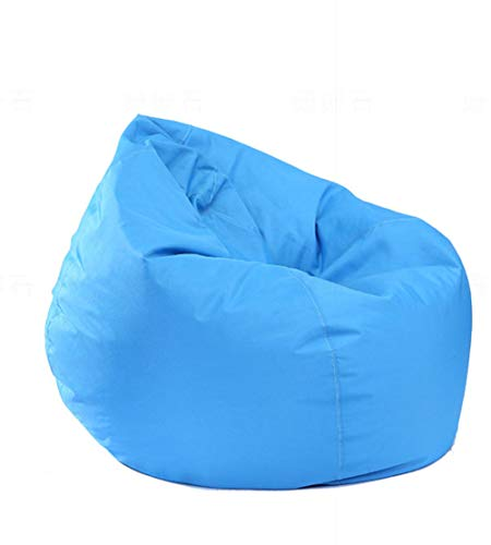 IRRIS Waterproof Bean Bag Chair Large Storage Bean Bag Oxford Chair Cover for Kids, Teens and Adults Lounger Sack Material: Cloth. Machine Washable Removable Slip Cover.(Sky Blue)