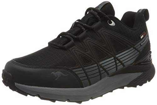 KangaROOS K-trun Low, Zapatillas Unisex Adulto, Negro (Jet Black/Steel Grey 5003), 45 EU