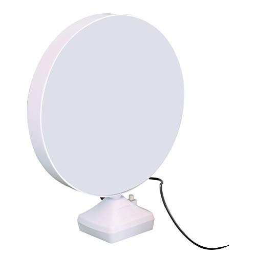 Garneck Cadres Photo Ronds LED Miroir de Beauté Blanc USB Miroir de Maquillage Support de Photo de Bureau Lampe de Remplissage Cosmétique Domestique pour Femmes Filles