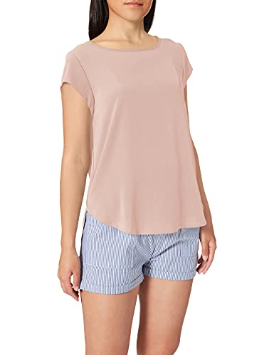 ONLY NOS Onlvic S/s Solid Top Noos Wvn, camiseta sin mangas Mujer, Rosa (Pale Mauve Pale Mauve), 42 (Talla fabricante: 42)
