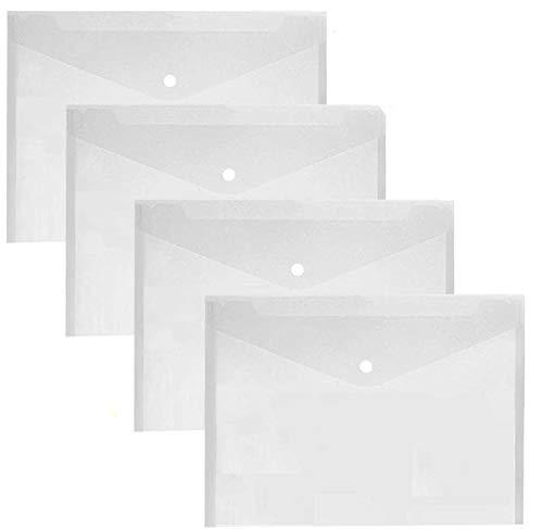 LATERN 30 Pezzi Cartelline Trasparenti A4 Plastica Cartellina Portadocumenti Cartellette Pulsante File Organizer per Casa Ufficio Scuola Documenti