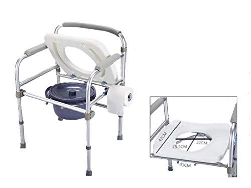 EDAHBJNEST5MK Commode Stoel Aluminium Opvouwbare Douchestoel Voor Senioren Handicap Bariatric Ouderen Toilet Veiligheid Frame