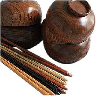 木のお椀10点セット 汁椀5客・箸5膳福袋セット