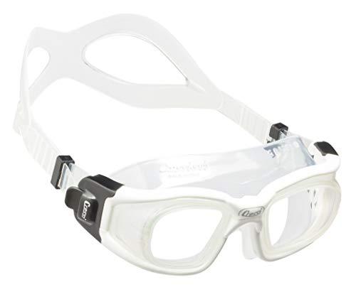 Cressi Galileo - Gafas de natación, Unisex Adulto, Transparente/Blanco, Uni