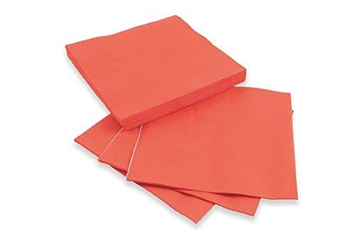 Galileo Casa Carta Set 20 tovaglioli Everyday 33x33cm Corallo, Rosso