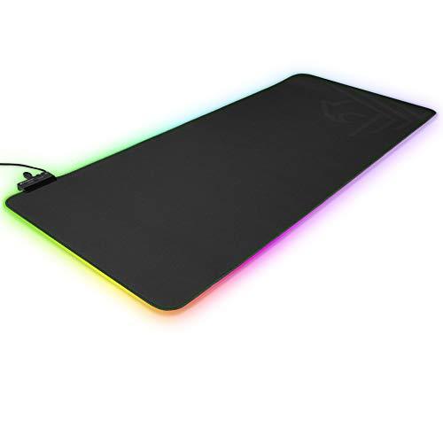 Phoenix Technologies - Alfombrilla Flexible con Iluminación RGB, Resistente a Líquidos, Tamaño XL, Base Antideslizante