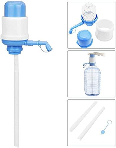 Dispensador de Agua Universal para Garrafas/Botellones/Barriles Compatible con Garrafas de 2L/3L/4L/5L/6L/8L/ Bomba Manual de Mano para Garrafas/Dispensador Manual de Agua A Presión(Azul)