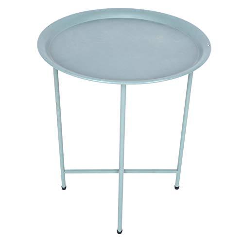 Emoshayoga Table de Bout de ménage 44.5x53cm Table Basse Ronde 17.5x20.9in