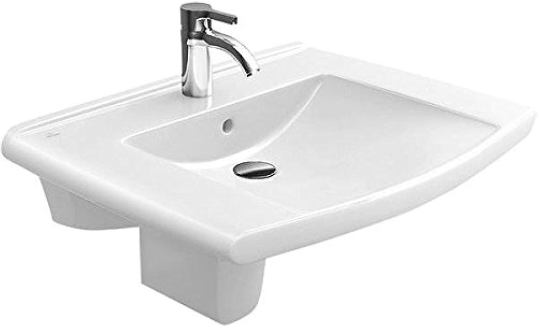 LIFETIME Waschtisch für 3-Loch Armatur, ohne überlauf 800 x 540 mm wei ceramicplus