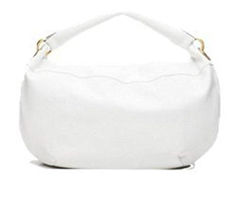 Authentic LUPO Bag Tivoli Blanco Damen Tasche, strukturiertes Leder, Hobo-Tasche, Weiß, Maße (LxHxB): 58 x 39 x 6,5 cm, One Size, XL, 190913108-007 Especial 421487