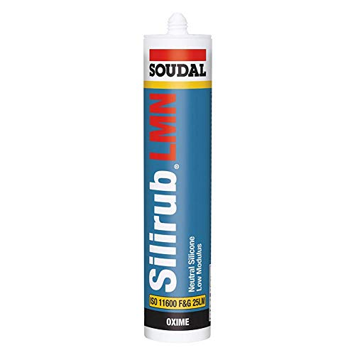 Soudal Silirub LMN - Silicona neutra (300 ml), color gris antracita