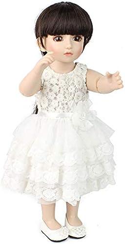 Reborn Baby-Puppe Simulation Silikon Vinyl Realistische Prinzessin Lange Haare,19 Zoll 48Cm Spielzeug Kindergeburtstags Geschenk