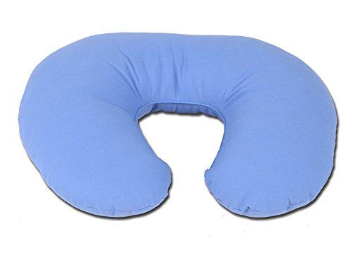 Collare da viaggio, cuscino cervicale, 44x36 cm, in fibra cava di silicone, con fodera 100% cotone traspirante, prodotto italiano