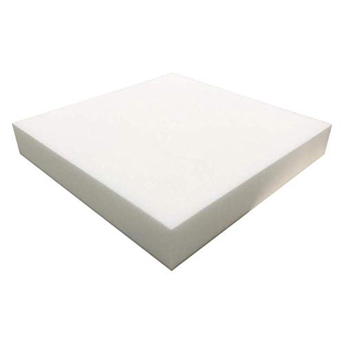 FOAMMA 3' x 24' x 24' Upholstery Foam High Density Foam (Chair Cushion Square Foam for Dinning Chairs, Wheelchair Seat Cushion Replacement)