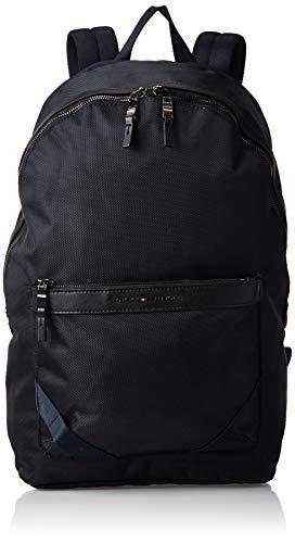 Tommy Hilfiger Herren Elevated Nylon Backpack Münzbörse, Blau (Sky Captain), 45x31x15cm
