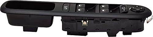 Vinciann pulsantiera console interruttori tasti alzacristallo, SICURA BAMBINI e regolazione specchietti retrovisori compatibile con OEM 96650620ZD e adatto a 3008 5008 (2009-15)