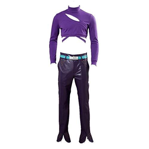 ULLAA Anime Jojos bizarres Abenteuer Goldener Wind Diavolo Halloween Karneval Cosplay Kostüm Outfit Lederhose Uniform Anzüge für Frauen Männer Plus Size