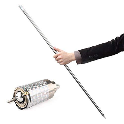 TOSOTO Bacchetta Magica, Magic Pocket Puntelli magici Bacchetta Magica Portatile Puntelli telescopici Bacchetta di Arti Marziali Mago in Metallo Puntelli magici Bacchetta telescopica Puntelli 110 cm